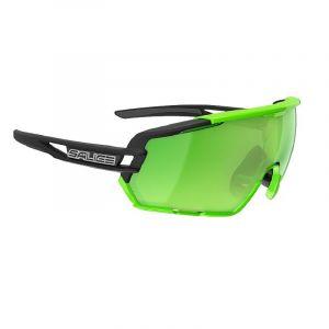 Occhiali Salice 020 Nero e Verde RW Verde  con Due Lenti Intercambiabili