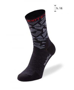 Calze Merino Socks Biotex WARM SUPER OFFERTA Nero Rosso Bianco