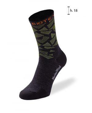 Calze Merino Socks Biotex WARM SUPER OFFERTA Nero Verde Arancio