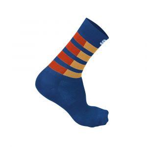 Calze Sportful Mate Socks Estive Blu Rosso Beige 2020