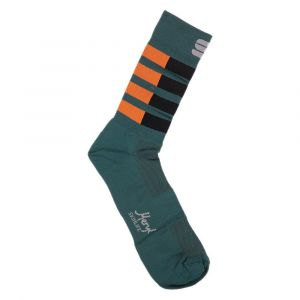 Calze Sportful Mate Socks Estive Verde Nero Arancio 2020