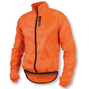 Antivento Biotex Wind Jacket X-Light Black Arancio Fluo Neon Orange