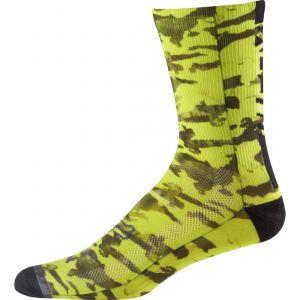 "Calze Fox Creo 8"" Trail Sock Camo Yellow"