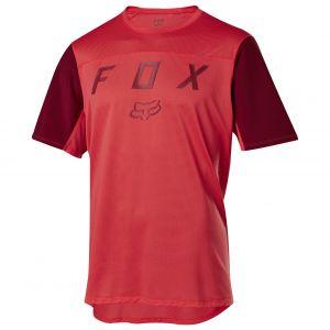 Fox Flexair Moth Maglia Maniche Corte Uomo Rosso Corallo MTB Enduro Free Ride