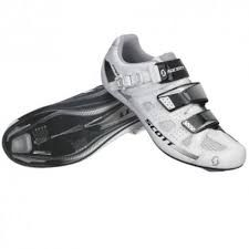 Scarpe bici da corsa SCOTT Road PRO Bianco e Nero  Lucido