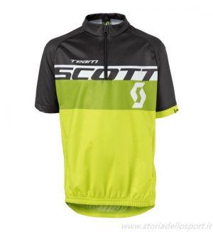 Scott Shirt RC Team SS Maglia Ciclismo Maniche Corte Nero Giallo Verde