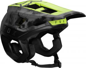 Casco Fox Dropframe Pro Helmet Giallo Grigio 2021 NUOVO