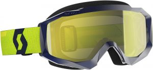 Maschera Scott Hustle MX Enhancer Blue Yellow Lente Cromata + Lente Trasparente