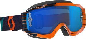 Maschera Scott Hustle MX Enhancer  Orange Blue Lente Cromata + Lente Trasparente