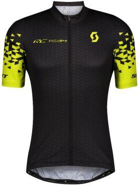 Scott Shirt Maglia Ciclismo Maniche Corte RC Team 10 Giallo e Nero 2021
