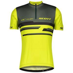 Scott Shirt RC Team 20 Maglia Ciclismo Maniche Corte Nero Giallo Verde