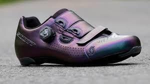 Scarpe bici da corsa SCOTT Road Team Boa Prizm Purple Black Viola Nero