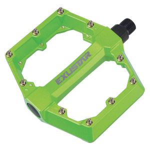 Pedali Flat MTB Enduro Exustar Verde Fluo