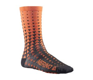 Calze Termiche Mavic Ksy Merino Graph Sock Puffin Black Orange