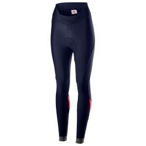 Pantaloni Calzamaglia Lunga Invernale Donna  Senza Bretelle Velocissima  Tight Castelli Blu e Rosa