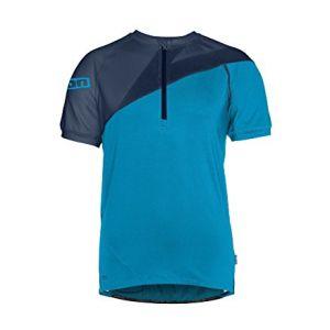 Ion Helio Tee SS maglia ciclista  Zip corta Blu