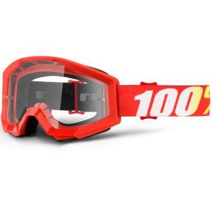 Maschera 100% Strata Goggle Furnace Clear Lens Rossa