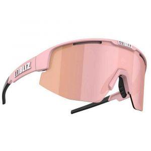 Occhiali ciclismo tempo libero Bliz Matrix Small Powder Pink Frame Rosa Salmone Opaco Lenti Brown With Rose