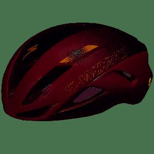 Specialized Casco S-Works Evade II Angi Mips Bordeaux Nero Oro - Gloss Maroon/Matte Black - Super Offerta