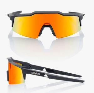 Occhiali Ciclismo 100% SPEEDCRAFT Nero Lenti Hiper Red Multilayer Mirror Lens