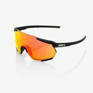 Occhiali Ciclismo 100% Racetrap NERO OPACO Soft Tact Black / HiPER Red