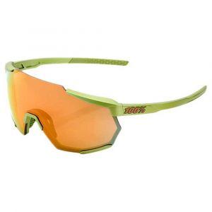 Occhiali Ciclismo 100% RACETRAP  Verde Lenti Specchio Bronzo