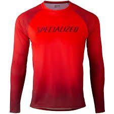 Maglia Maniche Lunghe MTB Enduro Gravel Specialized  Enduro Air Jersey  Rossa