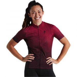 Maglia Ciclismo Specialized RBX Comp Jersey DONNA Maniche Corte Rosso Rubino Sfumata