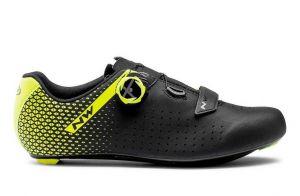 Scarpe Bici da Strada Northwave Core Plus 2 Road 2021 Nero Giallo Fluo