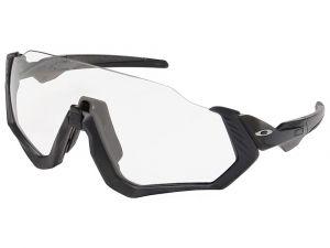 Oakley Flight Jacket Grigio Nero Opaco/Lucido Lenti Clear Black Iridium Photochromic lenti fotocromatiche