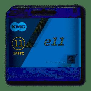 KMC Catena E11 122 Links 11v. Silver Bici Elettriche