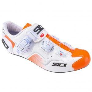 Scarpe Bici da Strada Sidi Kaos Bianco Orange Fluo