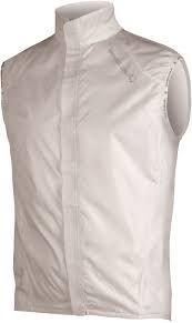 Giacchetto Gilet Antivento Smanicato Pakagilet Endura Bianco