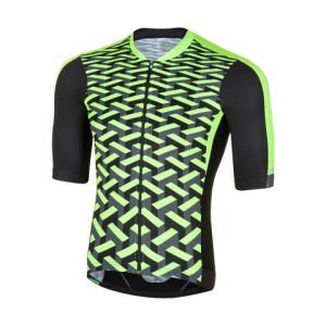 Maglia Ciclismo Fashion Vertigo Jersey Rh+ Black Green Fluo