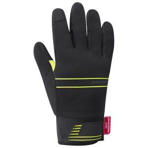 Guanti Invernali Termici Shimano Windstopper Insulated Gloves Nero e Giallo