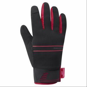 Guanti Invernali Termici Shimano Windstopper Insulated Gloves Nero e Rosso