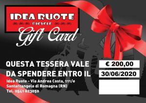 Gift Card Buono Spesa Valore 200 Euro Idea Regalo