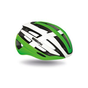 Casco Dotout Targa Shiny Green Shiny White Bianco Verde