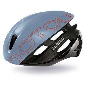 Casco Dotout Kabrio HT 2 Nero  Calotta Azzurro Perlato Nero