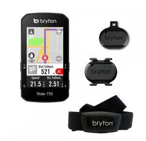 Bryton Rider 750 Ciclocomputer GPS con Fascia Cardio e Sensori di Cadenza