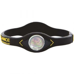 Power Balance Braccialetto Performance Technology Nero Giallo ORIGINALE