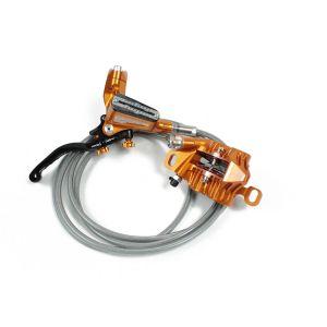 Coppia Freni Hope MTB Disc Tech 3 V4 Kit  Orange Anteriore e Posteriore Nuovo SUPER OFFERTA